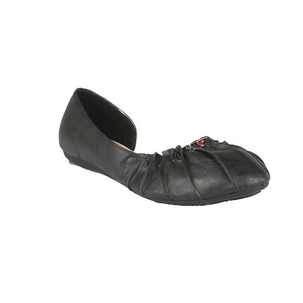 Neway by Beston 'Pansy-02' Women's Black Ballet Flats