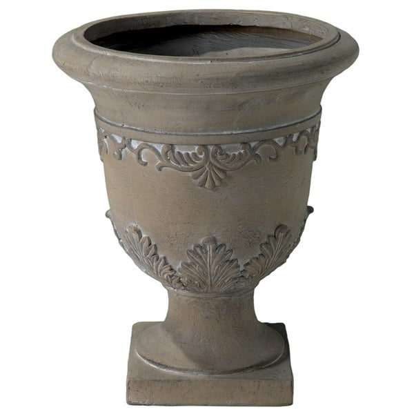 Moroccan 20-inch Antique Green Urn Planter by Christopher Knight Home