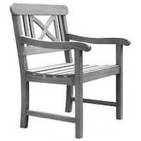 The Gray Barn Bluebird Weather-resistant Outdoor Hand-scraped Hardwood Armchair