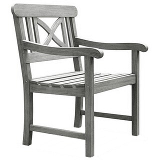 The Gray Barn Bluebird Weather-resistant Outdoor Hand-scraped Hardwood Armchair