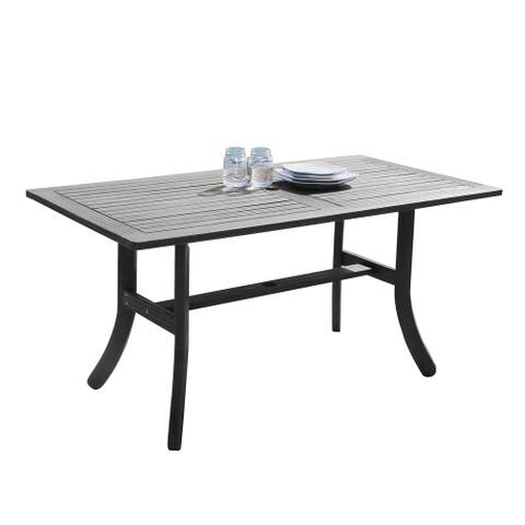 Surfside Outdoor Hand-scraped Hardwood Rectangular Table by Havenside Home