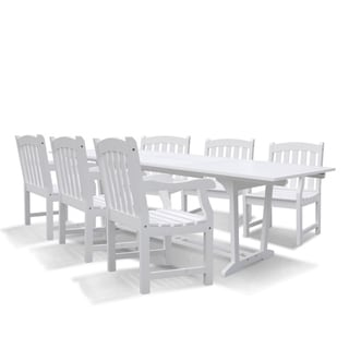 Bradley Rectangular Extension Table and Armchair Outdoor Acacia Wood Dining Set