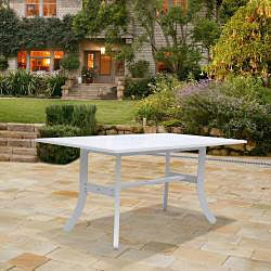 Vifah Bradley Rectangular Table and Arm Chair Outdoor Woo...
