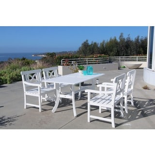 Bradley Rectangular Table and Arm Chair Outdoor Wood Dining Set - Thumbnail 0