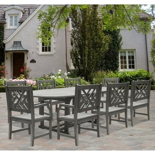 Renaissance Oval Extension Table And Armchairs Hardwood Outdoor Dining Set