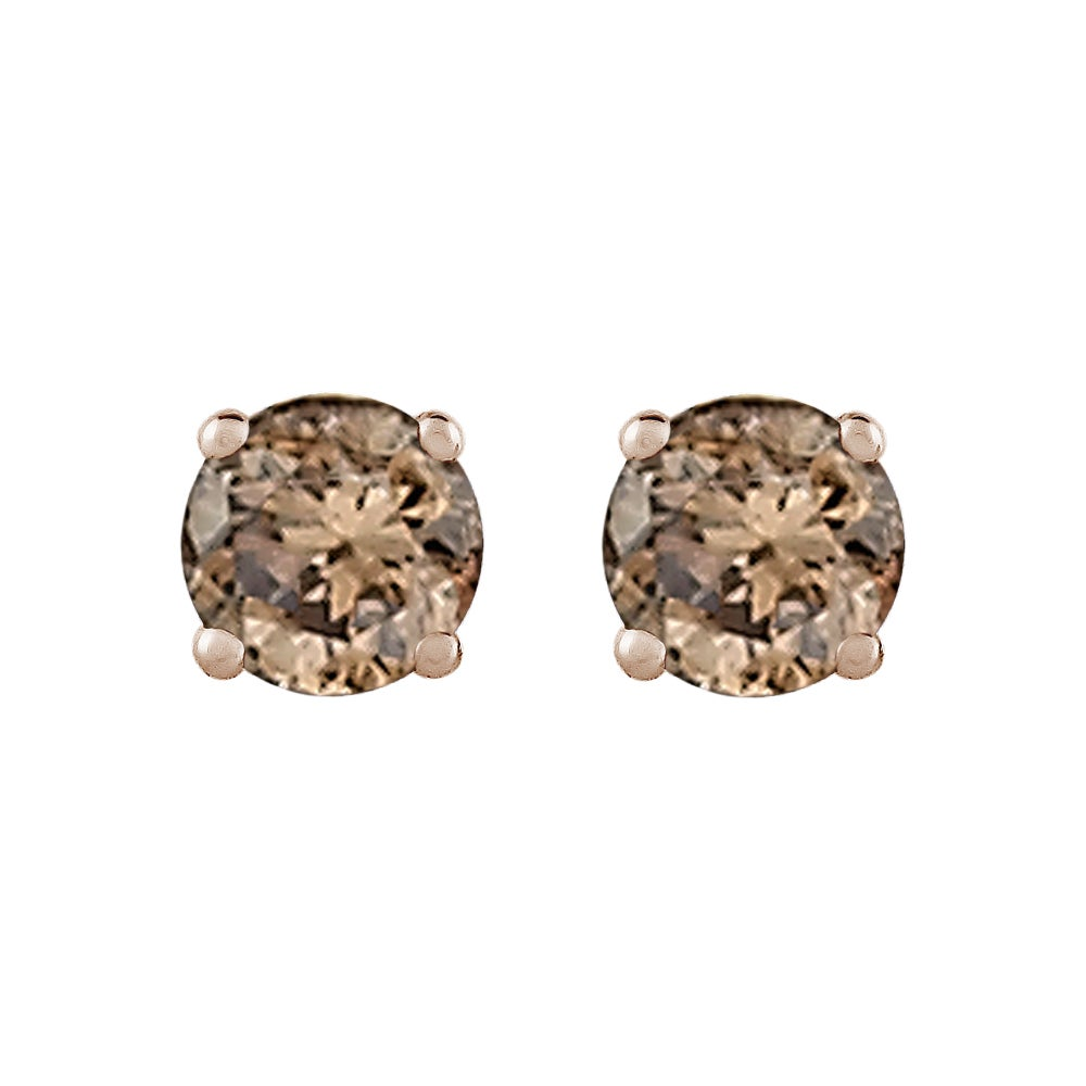 earrings stud clear rose amp gold solitaire image swarovski crystal