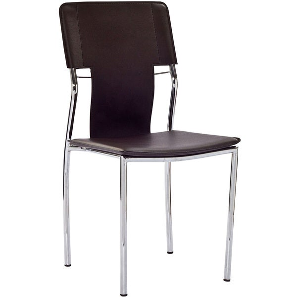 Brown Vinyl Studio Dining Chair