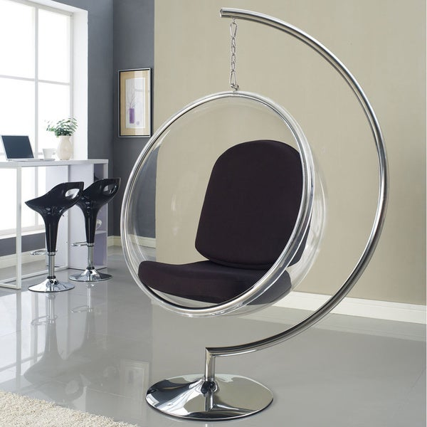 eero aarnio style bubble chair with cushion - free shipping today