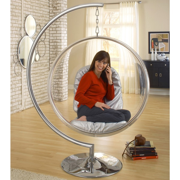 eero aarnio style bubble chair with cushion free shipping today