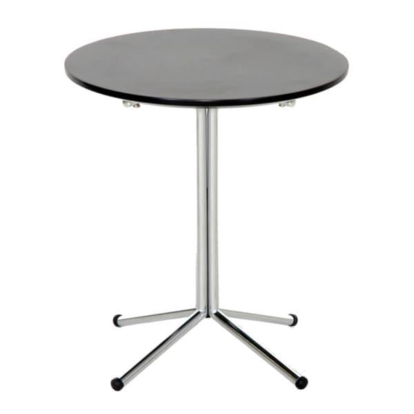 Grimes Dark Brown Wood/ Steel Modern End Table