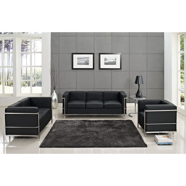 Charles Petite Leather Sofa
