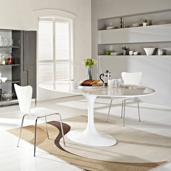 Petite Table De Cuisine Blanche: Shop Eero Saarinen Style White Tulip Dining Table