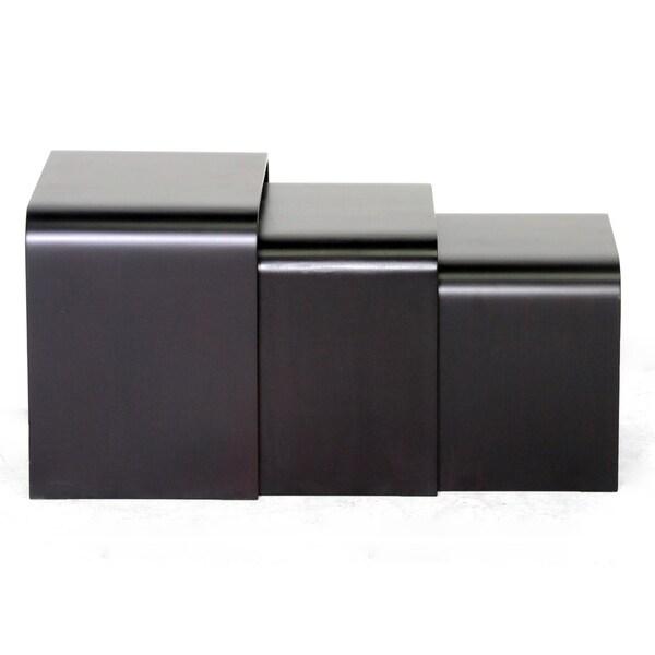 Hardin Dark Brown Modern Nesting Tables (Set of 3)