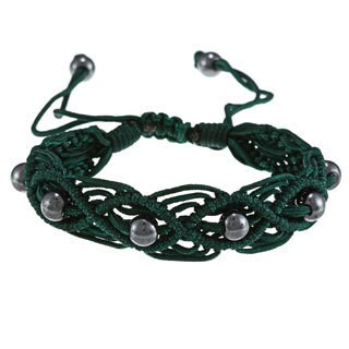 La Preciosa Hematite Beads Cord Macrame Bracelet (5 options available)