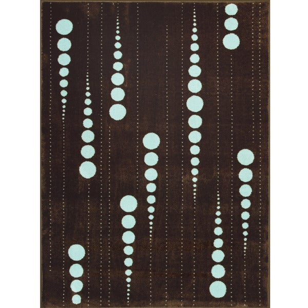 Somette Allestra Connections Brown Rug (4' x 6')