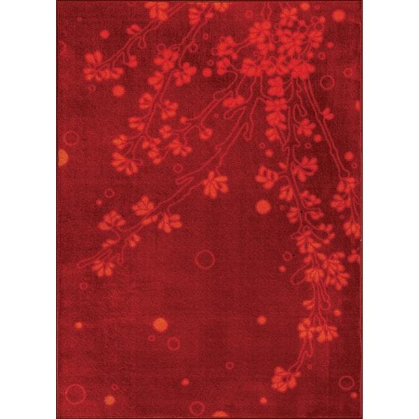 Somette Allestra Elegance Red Rug (4' x 6')