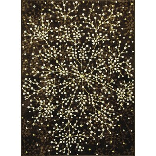 Somette Allestra Blossoming Brown Rug (4' x 6')
