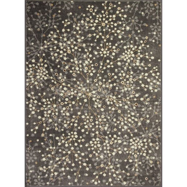 Somette Allestra Blossoming Grey Rug (4' x 6')