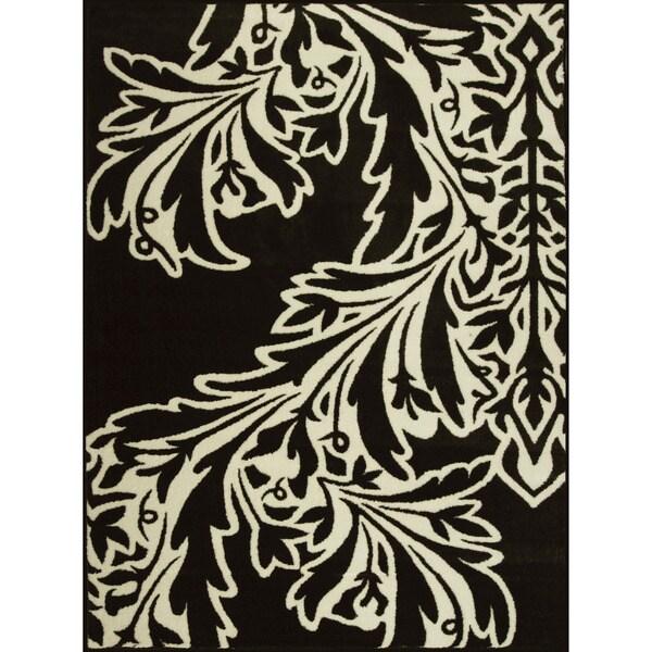 Somette Allestra Flamenco Black Rug (4' x 6')