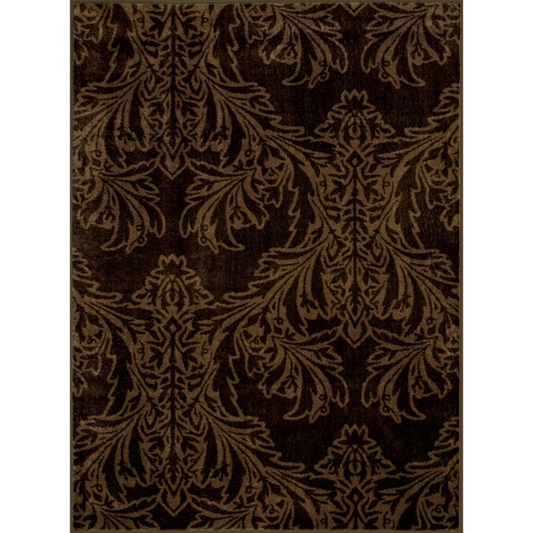 Somette Allestra Majestic Brown Rug (4' x 6')