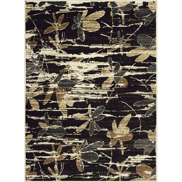 Somette Allestra Without Prevention Grey Rug (4' x 6')