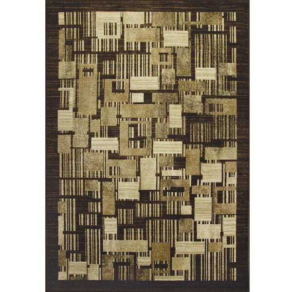 Somette Allestra Petro Blocks Beige Rug (7' x 10')