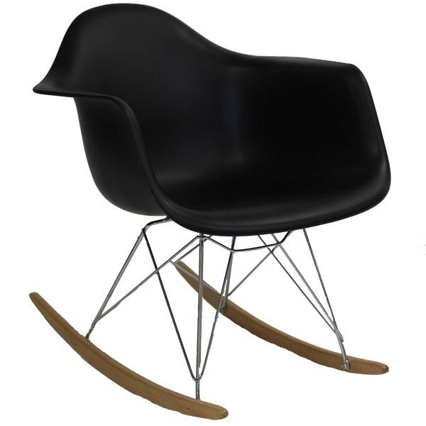 Molded Plastic Armchair Rocker