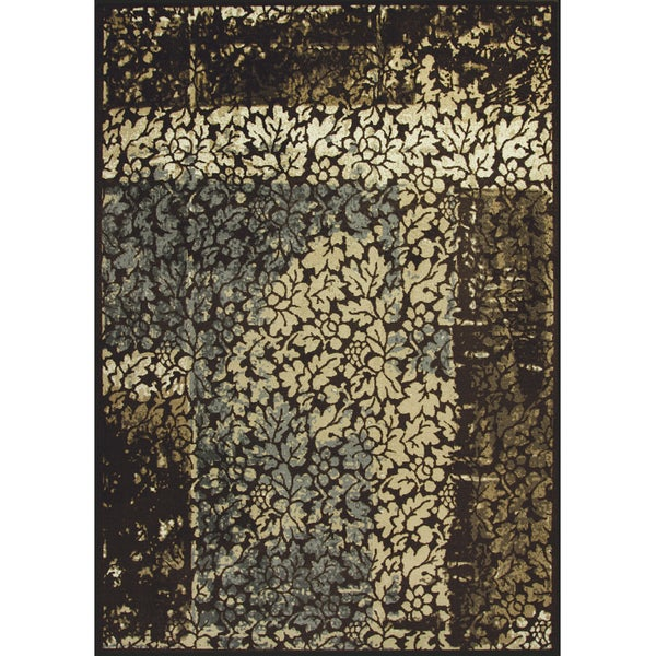 Somette Allestra Faithful Harmony Chocolate Rug (7' x 10')