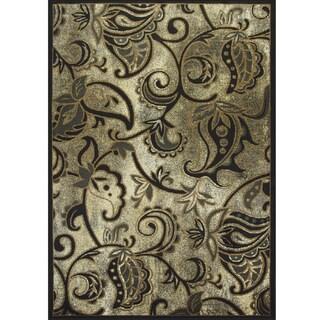 Somette Allestra Melancholic Garden Grey Rug (7' x 10')