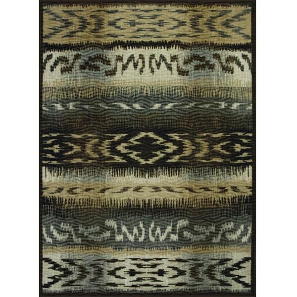 Somette Avante First Nation Grey Rug (4' x 6')