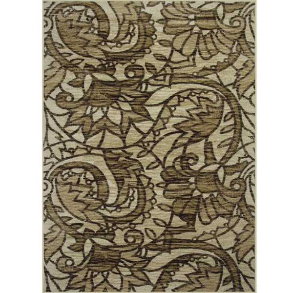 Somette Avante Sweet Remembrance Beige Rug (4' x 6')