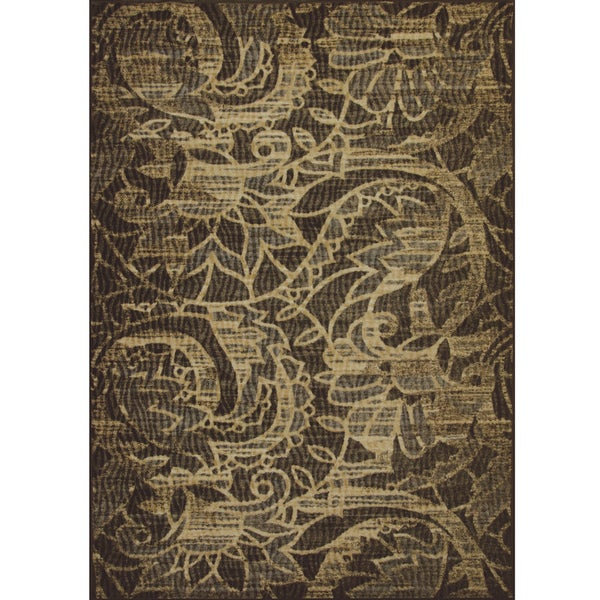 Somette Avante Sweet Remembrance Chocolate Rug (4' x 6')