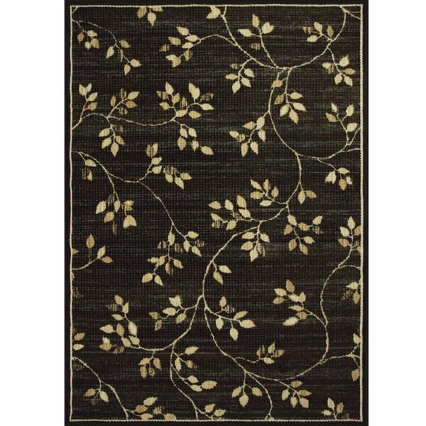 Somette Avante Garden Elegance Charcoal Rug (4' x 6')