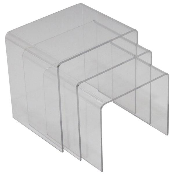 Casper Clear 3 Piece Nesting Table