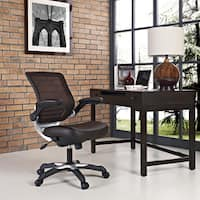 Edge Brown Mesh Back Faux Leather Office Chair