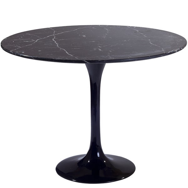 Eero Saarinen Black Marble 24-inch Side Table