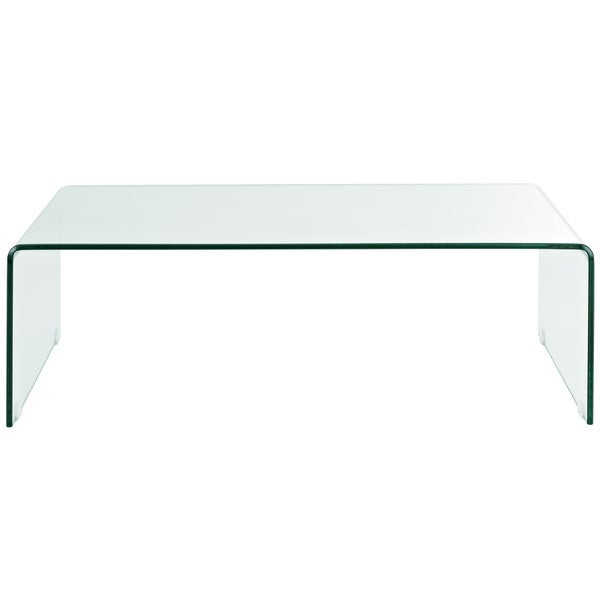 Transparent Glass Coffee Table   Free Shipping Today   Overstock.com    14230350