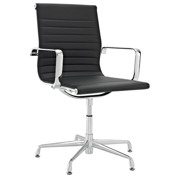 Discovery Black Vinyl Conference Chair