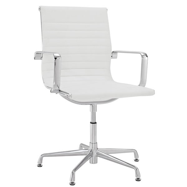 Discovery White Vinyl Conference Chair