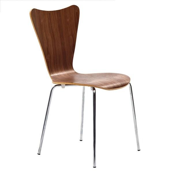 Molded Walnut Side Chair
