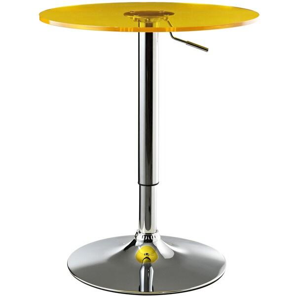 Portal Adjustable Acrylic Orange Top Bar Table
