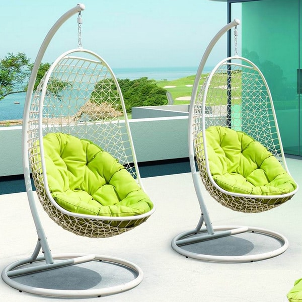 Rattan Outdoor Patio Swing Chair - Free Shipping Today - Overstock.com -  14230422