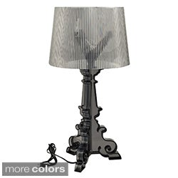 French Grand Black Acrylic Table Lamp