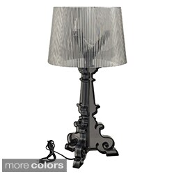 Awesome French Grand Black Acrylic Table Lamp
