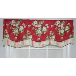 RLF Home Primrose Red Glory Valance