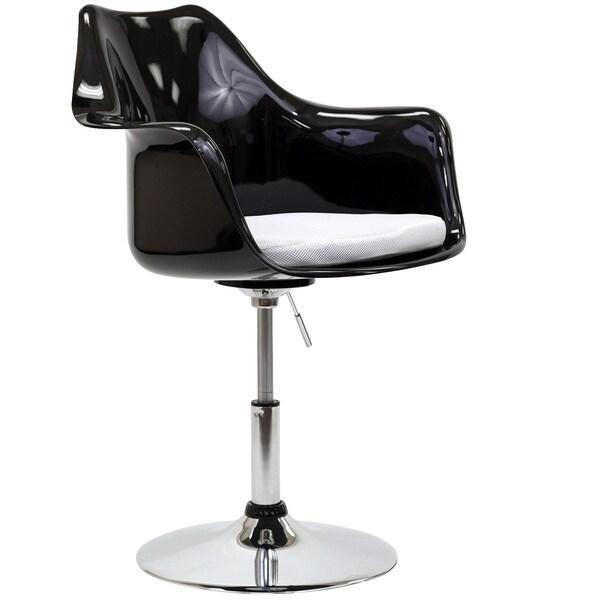 Zvauni Hydraulic Swivel Black Arm Chair