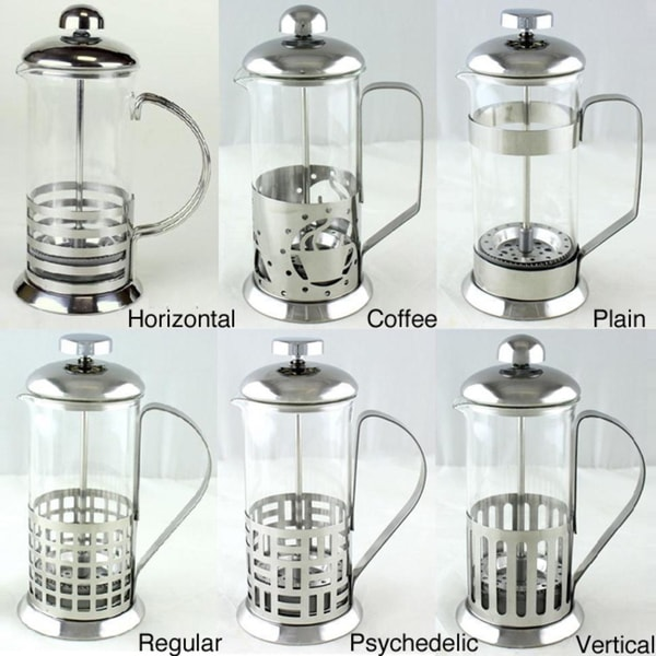 Ovente12-oz Glass/ Steel French Press Coffee Maker
