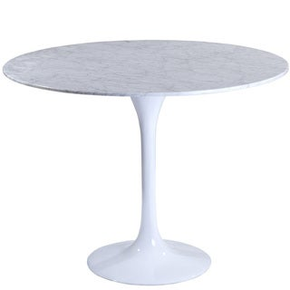 Eero Saarinen Style 40-inch White Marble Top Tulip Dining Table