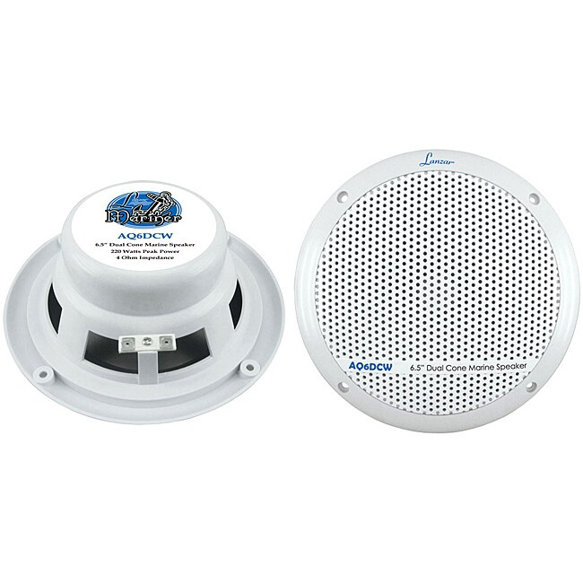 "Lanzar Pair of 360W 6.5"" Dual Cone Marine Speakers"