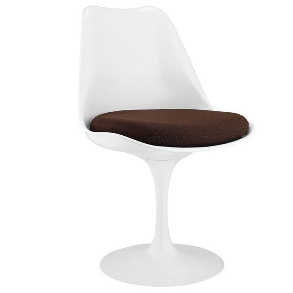 Eero Saarinen Style Tulip Side Chair with Black Cushion
